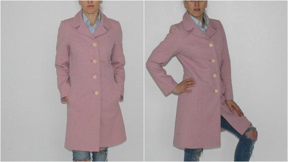 Spring Pink Coat Vintage Salmon Pink Coat Trench C