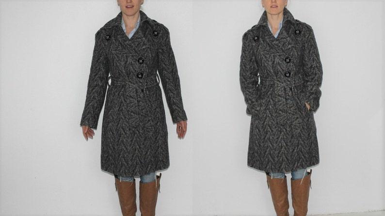32c6a1da7bef73 Damen Winter Wollmantel Damen Mantel a-Linie Wollmantel grau   Etsy
