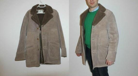 Beige Leather JACKET Men's Jacket Coat Biker Moto