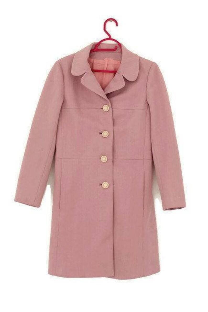 2ac418ff738d3 Light Pink Coat Pink Coat English Lady Size Midium, Size 38 Coat Pink coat  jacket vintage coat 60's Made by English Lady Vintage pink coat