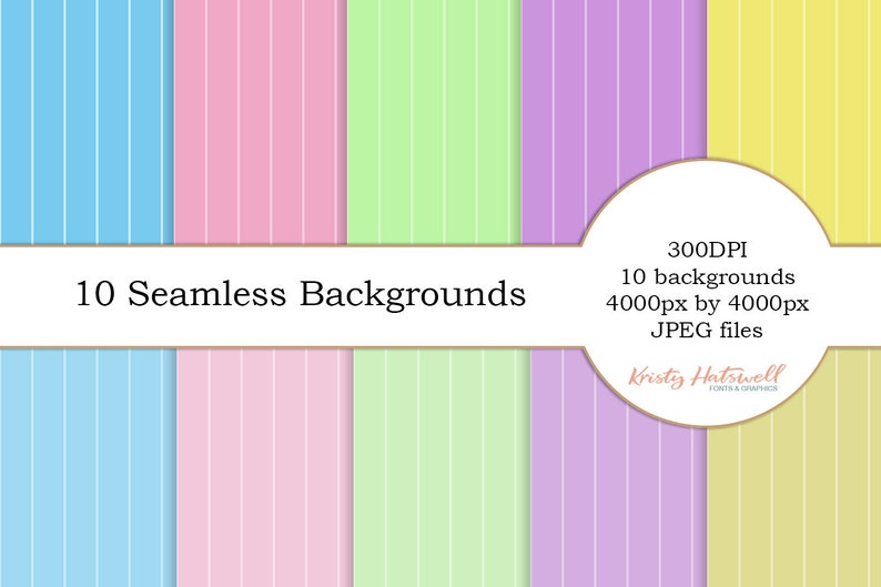 10 Seamless Backgrounds digital paper seamless background image 0