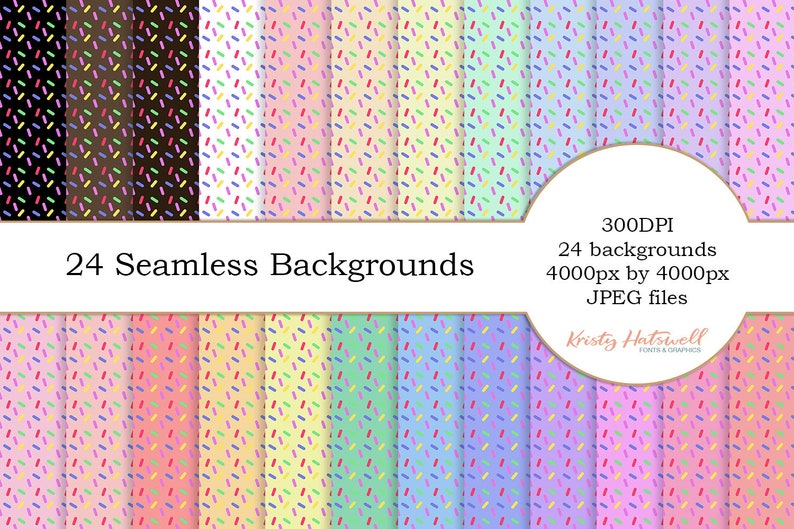 24 Seamless Sprinkle Backgrounds digital paper seamless image 0