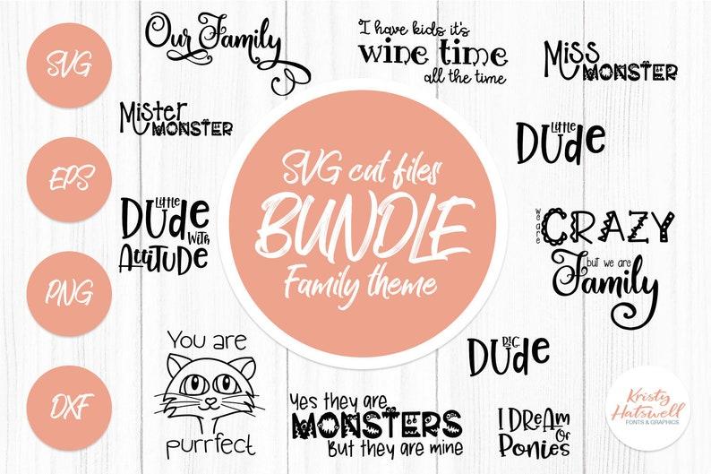 Family SVG cut file bundle svg bundle kids svg bundle image 0