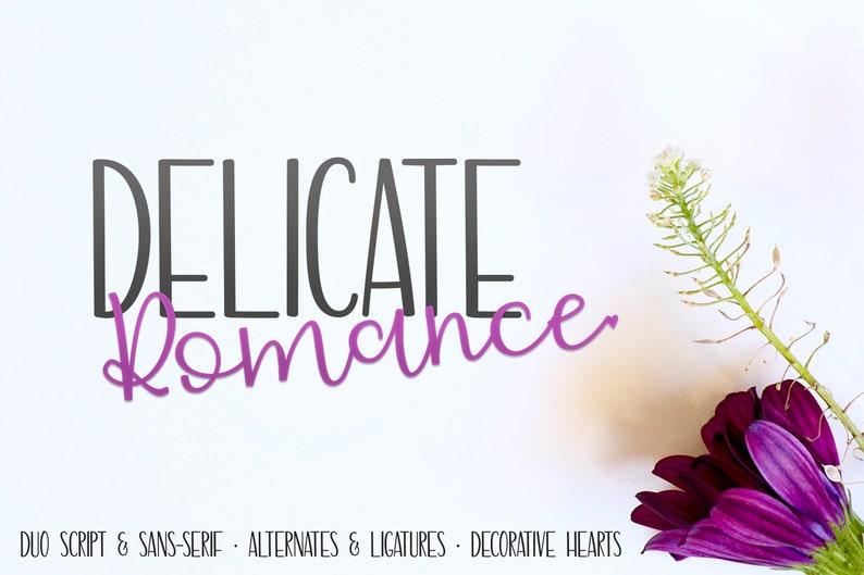 Delicate Romance Font Duo fonts font font duo font bundle image 0