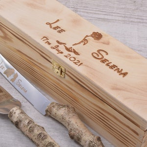 gift engraved SUGAR SKULL wedding set mr /& mrs day of the dead candy personalised cake server dia de los muertos etched