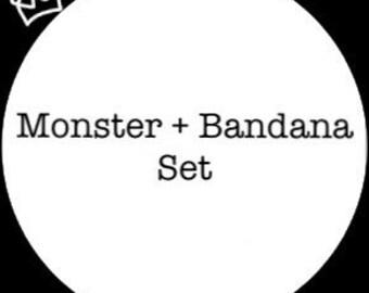 Baby Gift Set - Friendly Monster, Bandana Bib Set - Gift ideas
