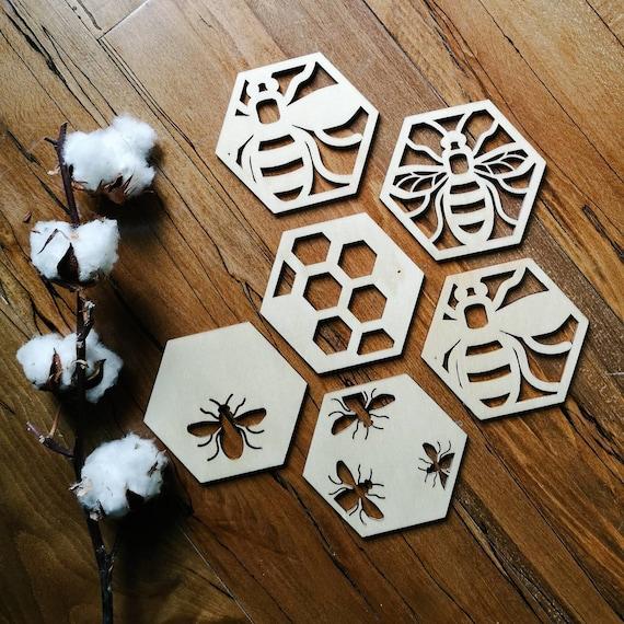 Handmade decoupaged Ardoise Manchester Bee Drinks Coasters Cadeau Anniversaire Cadeau Rose