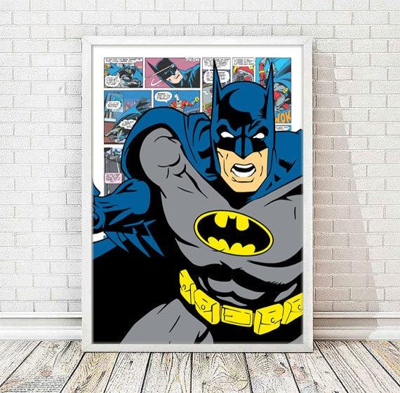 Batman The Dark Knight Framed CANVAS Art PRINT A0 A1 A2 A3 A4 Sizes