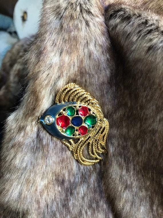 Vintage Daxon Fish Brooch Jewellery  1980s Brooch  Brooch  Costume Jewelry costume Jewellery Gift
