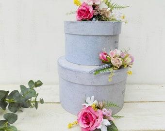 Flower cake topper etsy blush pink mauve cake topper wedding cake decoration artificial silk flowers rustic decor wedding flower cake toppers mightylinksfo