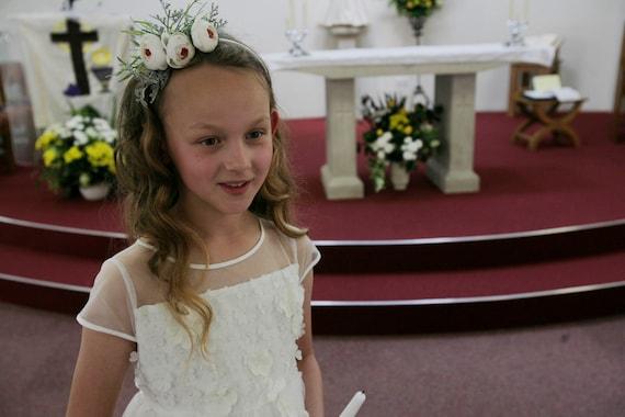 Hair flower arrangement Hair Jewellery Communion for Communion Dress