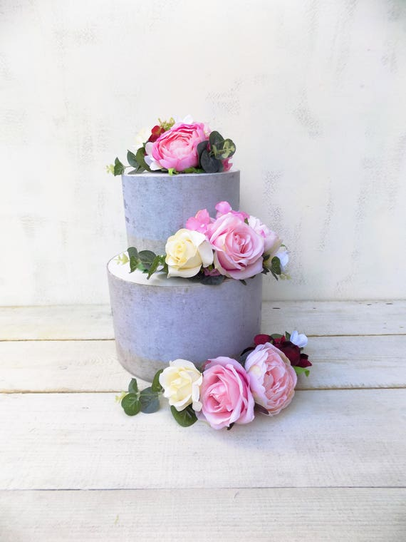Wedding Flower Cake Topper Wedding Cake Decoration Artificial Etsy