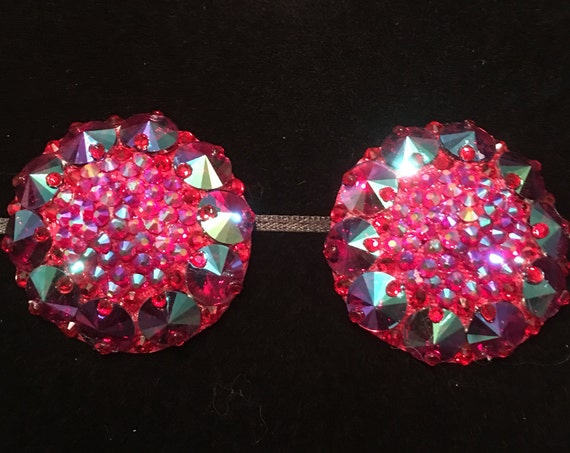 The Empress of Siam Red Siam AB Crystal Rhinestone Burlesque Pasties