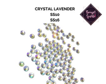 Crystal Lavender Rhinestones | Crystal Flatback | Non-hotfix |  Sizes SS10 and SS16 | By the Gross