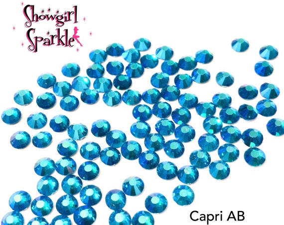 Capri AB Flatback Glass Rhinestones, 1 gross (144 stones) Non-hotfix, in sizes SS10 and SS16