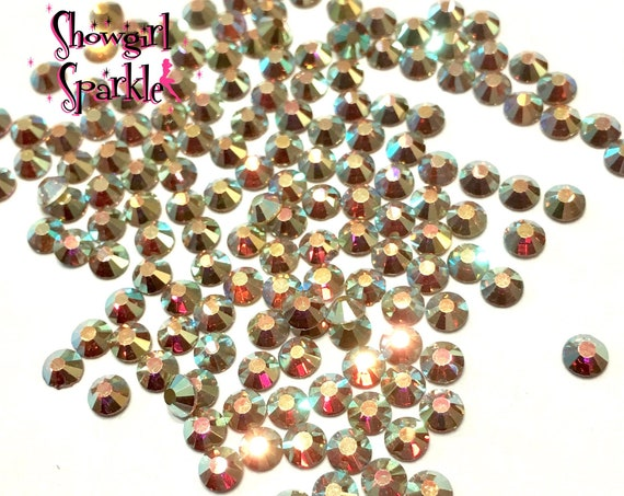 Morning Light Flatback Glass Rhinestones, 1 gross (144 stones) Non-hotfix, in sizes SS10 and SS16
