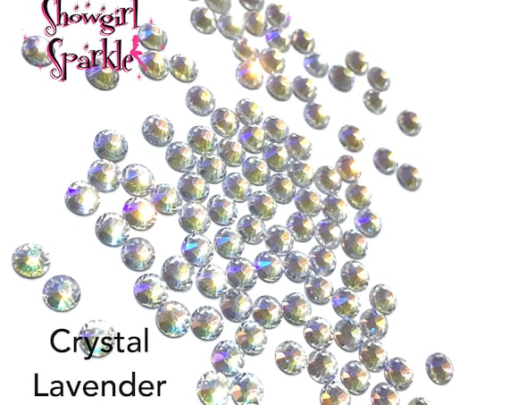 Crystal Lavender Flatback Glass Rhinestones, 1 gross (144 stones) Non-hotfix, in sizes SS10 and SS16