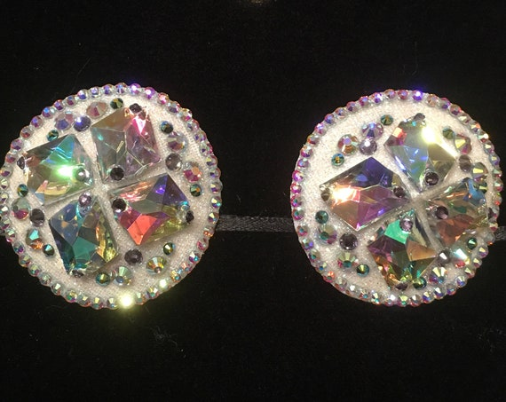 Violet Ice Crystal Rhinestone Burlesque Pasties