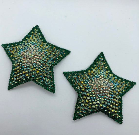 Ombre 5-point Stars Rhinestone Burlesque Pasties