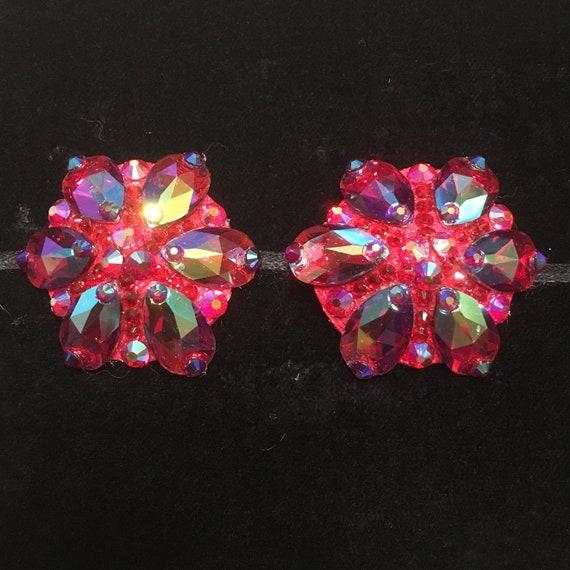 Siam Teardrop Crystal Rhinestone Burlesque Pasties