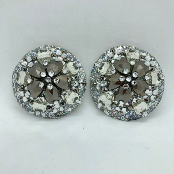 Icy Silver Crystal Rhinestone Burlesque Pasties