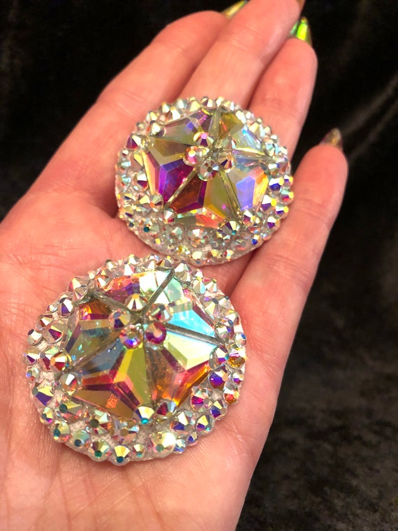 Crystal AB Rhinestone Burlesque Pasties