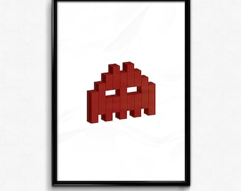 Space Invader - Red