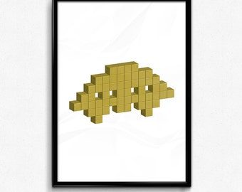 Space Invader - Yellow