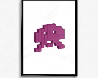 Space Invader - Purple