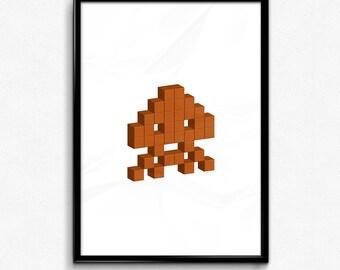 Space Invader - Orange