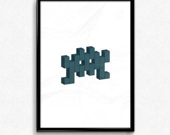 Space Invader - Blue