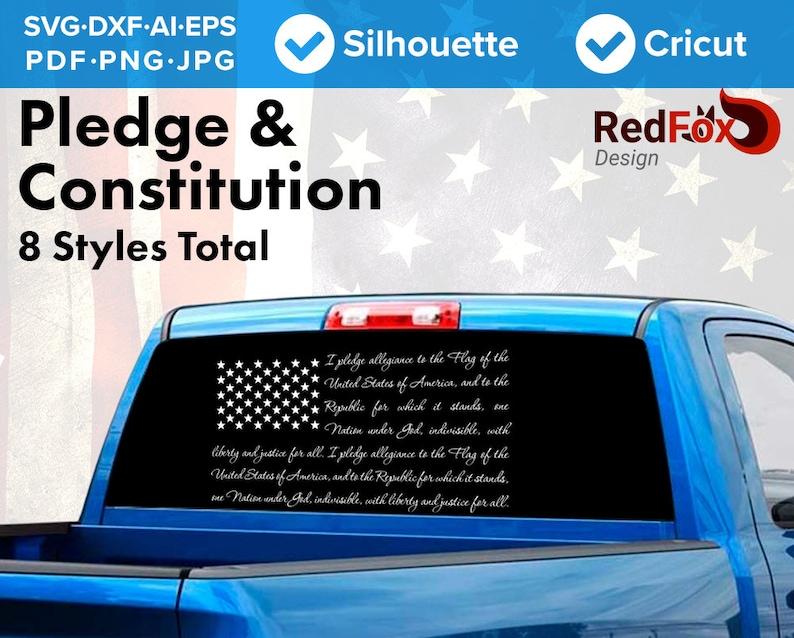 Us Flag America Pledge Of Allegiance Preamble Constitution Etsy