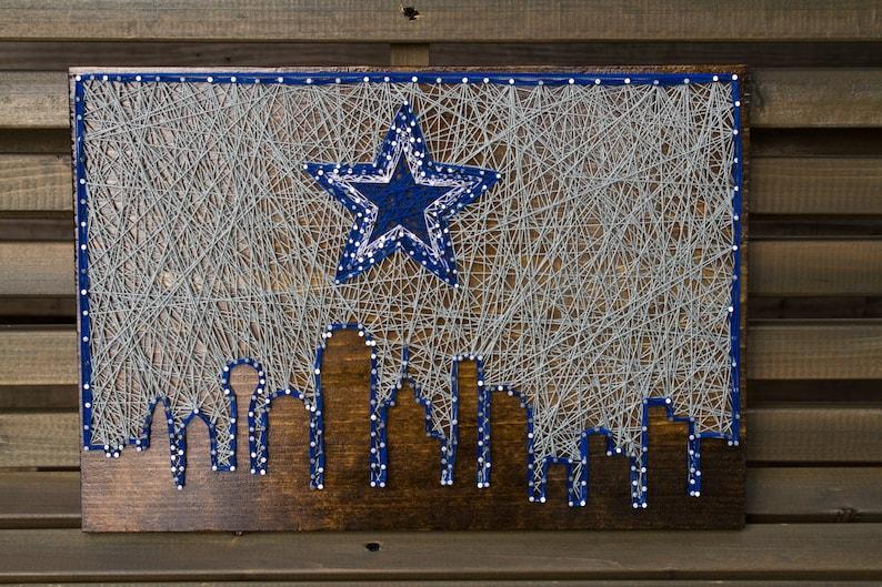 Dallas Cowboys Skyline String Art SALE  12c83743b
