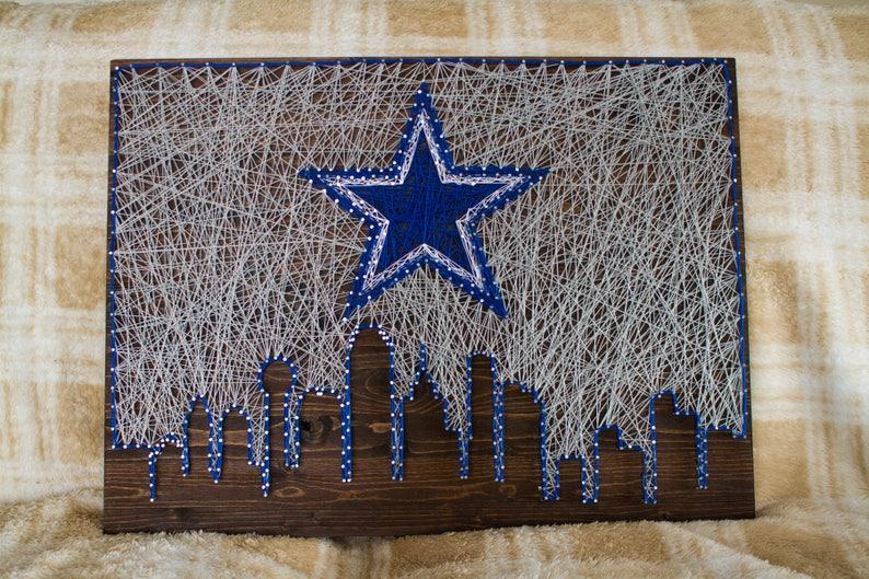 18x24   Dallas Cowboys Skyline String Art  7b289b029