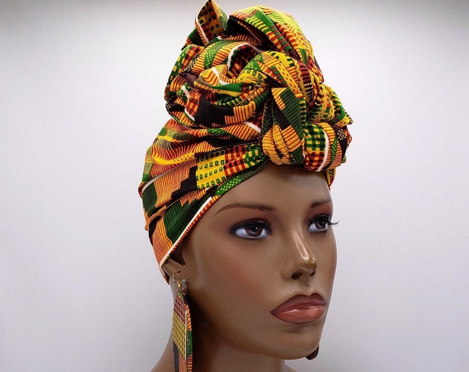 Featured listing image: Kente African Head Wrap