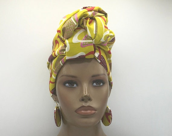 African Head Wrap - African Scarf - African Turban - African Wrap - Ankara - Kente Head Wrap - Kente Turban - Head Tie - African Headdress