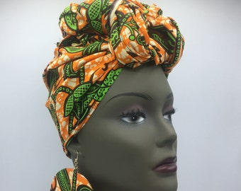 African Head Wrap - African Scarf - African Turban - African Wrap - Ankara Head Wrap - Scarf - Wax Turban - Head Tie - African Headdress