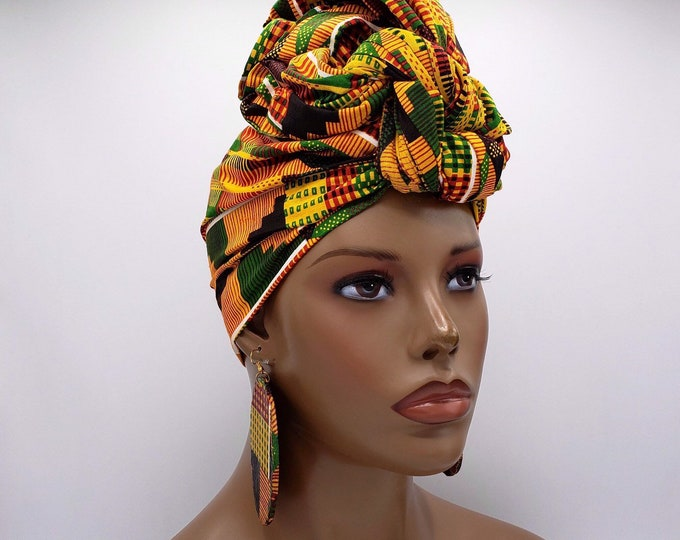 Featured listing image: Kente Print African Head Wrap