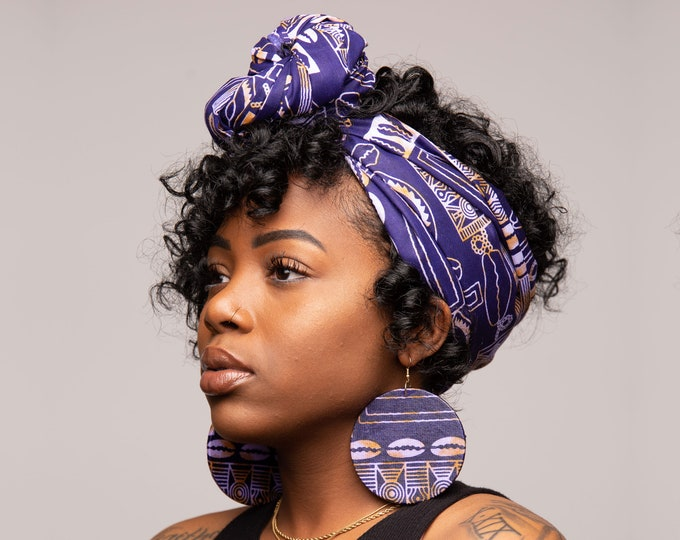 Featured listing image: Purple & Gold Head Wrap