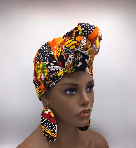 African Head Wrap - African Scarf - African Turban - Head Wrap - Ankara - Kente Head Wrap - Ankara Head Wrap - Head Wrap