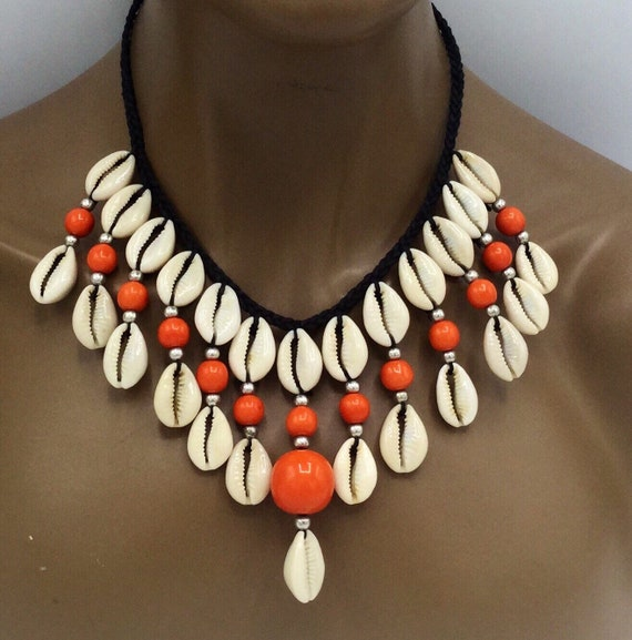 Cowry Shell Necklace and Earrings Set