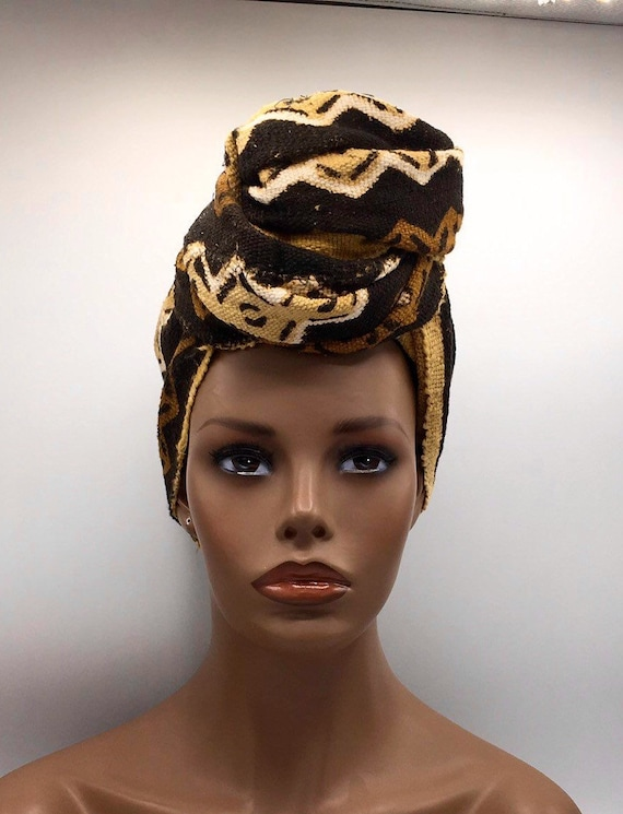 Mud Cloth African Head Wrap