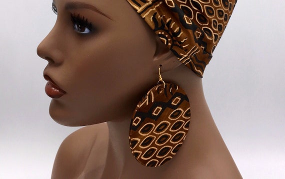 African  Earring - Ankara Earrings - Wax  Earrings - Ankara  Earrings - Big African Earrings - Large Earrings - Big Earrings