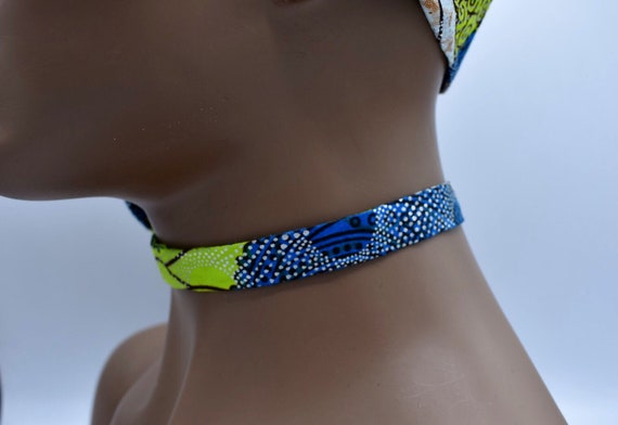 African Ribbon Necklace, Fabric Ribbon Necklace, Fabric Necklace, Ankara Necklace, Ribbon Necklace, African Necklac