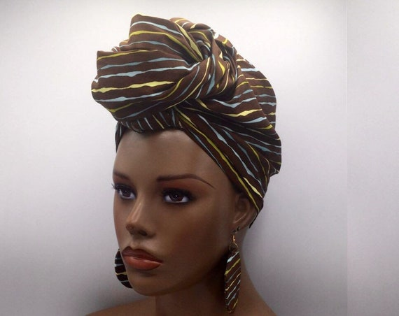 Beige & Gold Head Wrap