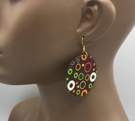 Brown Fabric Earrings