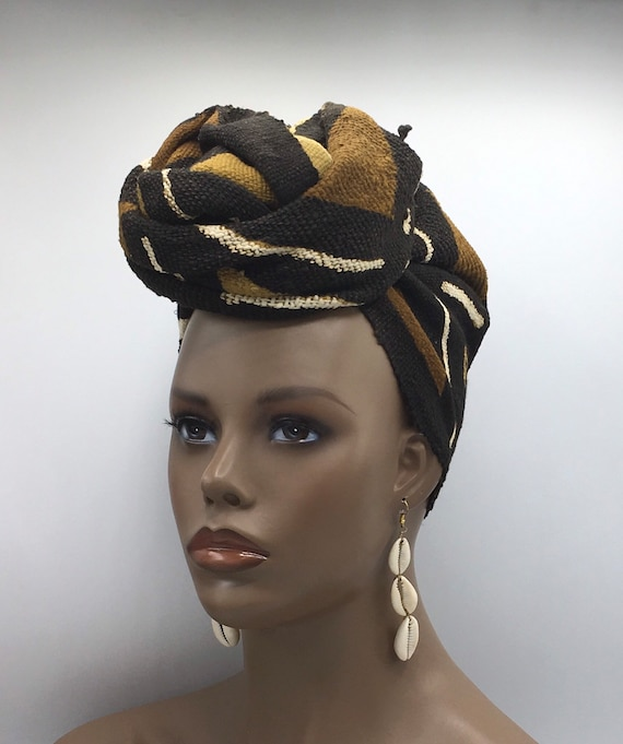 Mud Cloth Head Wrap - Mud Cloth Turban - African Head Wrap - Head Scarf - Mudcloth Turban - Fashion Turban - Afrocentric