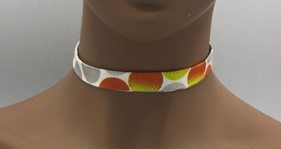 African Print Choker, African Ribbon Necklace, Fabric Ribbon Necklace, Fabric Necklace, Ankara Necklace, Ribbon Necklace