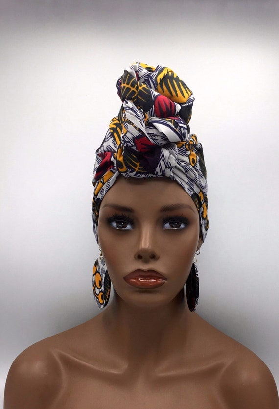 African Head Wrap - Head Wrap - African Turban - African Wrap - Headdress - Turban - Head Tie - Wraps - Hijab - Headdress