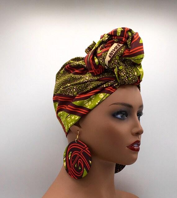 African Head Wrap - African Scarf - African Turban - African Wrap - Ankara  - Cloth Turban - Head Tie - African Headdress